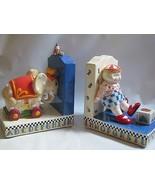 Mary Engelbreit Ceramic Circus BOOKENDS Pair Elephant, Girl  MIB         - $49.45