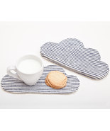 Striped Drink Coasters Barware  Fabric coasters... - $17.00