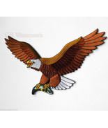 X LARGE EAGLE FISH NOVELTY EMBROIDERED PATCH 9 ... - $14.80