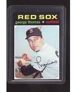 1971 TOPPS BASEBALL CARD#678 GEORGE THOMAS NM/NMM+ NICE RED SOX STAR  - $6.00