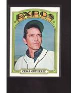 1972 TOPPS BASEBALL CARD#743 CESAR GUTIERREZ  EX++NM EXPOS STAR  - $4.00