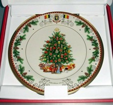 "Lenox Belgium Collector Plate 11"" Christmas Trees Around the World 2016 New - $39.90"