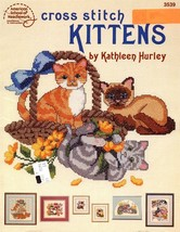 Cross Stitch Kittens by Kathleen Hurley American School of Needlework 7 ... - $6.75