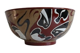 "Beautiful Chinese Mask Style Porcelain Bowl 12"" Diameter - $148.49"