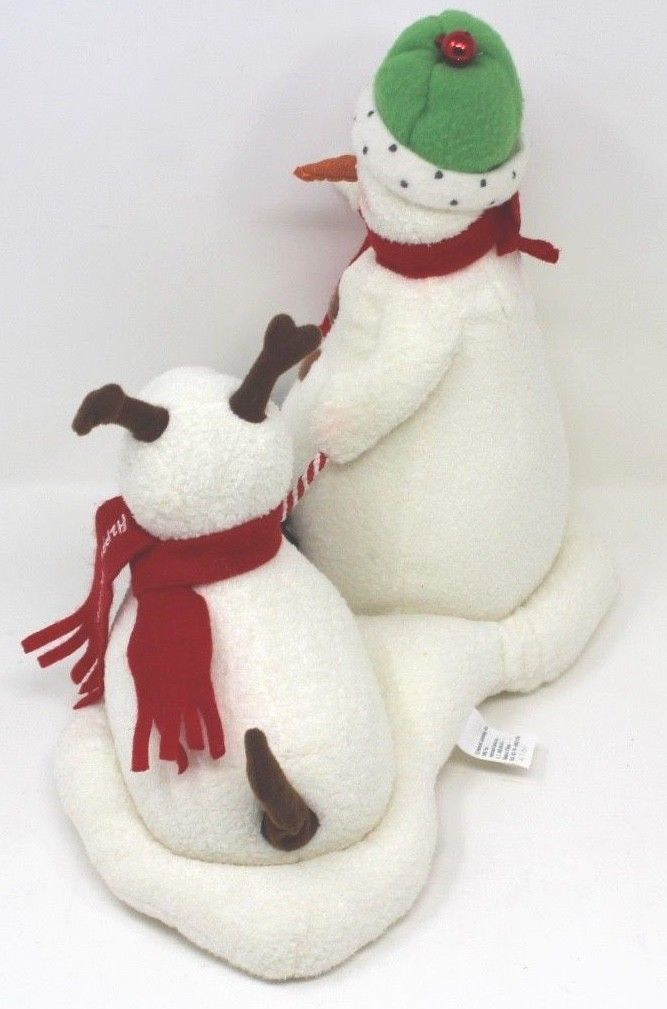 Hallmark Jingle Pals Snowman and Dog 2004 Plush Sound Motion Jingle Bells Xmas image 2