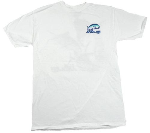 Men's U.S. Angler Shirt Fishing Tee Randy McGovern Design T-Shirt White Fish F/B