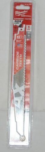 Milwaukee 48005226 Sawzall Blade Carbide Teeth Nail Embedded Wood