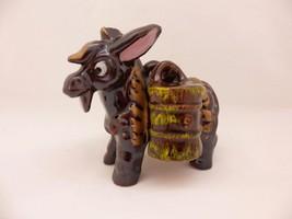 Vintage Donkey Salt & Pepper Barrel Shakers Cork Stopper Made In Japan - $11.87