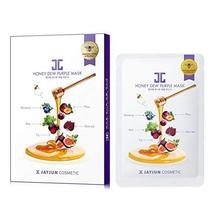 JAYJUN Honey Dew Purple Facial Mask 1's -Soften Skin, Provide deep Nutrition and