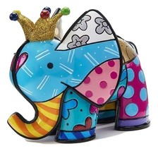 Romero Britto 10th Anniversary Special Edition Lucky Elephant Design Figurine - $79.19