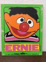 Vintage 1973 Playskool Wood Puzzle Sesame Street Hen Ernie Green - $13.86
