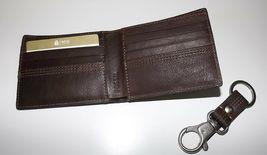 Fossil HERREN Leder Kyle Rfid Geschützt Bi-Faltbar Portemonnaie mit Valet image 3