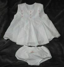 Strasburg White baby Girl Dress Floral Embroidery Christening Baptism 0-... - $39.59