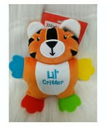 """8"""" Kidgets Doll Teether Tiger Lil Critter Lovey Plush Baby Toy Boy Orang... - $19.99"""