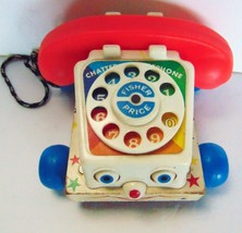 Vintage - Fisher-Price  Wooden Chatter Telephone Pull Toy #747 Original - 1961 - $13.87