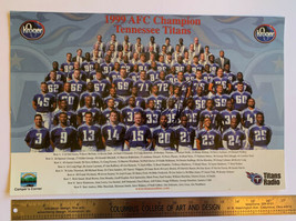 1999 AFC Champion Team Photo W/ Eddie George Autograph 11 X 17 Frame able - $14.85