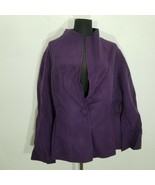 Talbots Women Jacket Size 20 Felted Boiled? 100% Wool Pockets 1 Button H... - $31.92