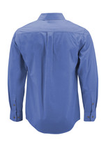 Men's Dark Blue Cotton Long Sleeve Collared Plaid Button Up Dress Shirt - M image 2