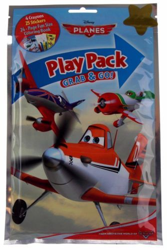 Disney Planes Play Pack Lot 12 Grab Go Coloring Book Crayons Stickers Favors