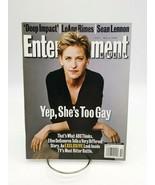 "Entertainment Weekly #431 Ellen DeGeneres ""Yep She's Gay Too"" Magazine M... - $24.09"