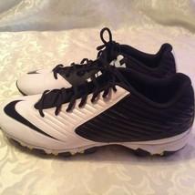 Nike Vapor Shark Strike cleats Size 11 white black football athletic shoes mens - $32.79