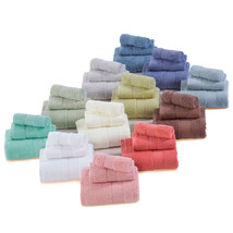 3 Pcs Towel Set 100% Cotton 12 Solid Colors Home Hotel Decor Gift Natura... - £28.65 GBP