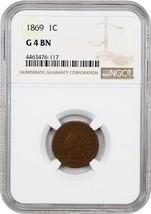 1869 1c NGC Good-04 - Indian Cent - Scarce Date - $135.80
