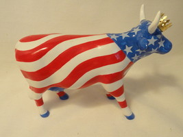 Cow Parade #9189 American Royal Stars & Stripes Red White Blue Patriotic... - $31.99