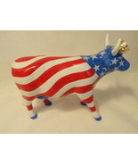 Cow Parade #9189 American Royal Stars & Stripes Red Whte Blue Patriotic ... - $19.99