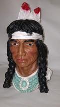 Chalkware Universal Statuary Corp Native American Indian Bust 320 - $39.59