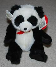 "Russ Totally Poseable Panda Bear Stuffed Bean Bag Plush 10"" Black & White Teddy - $14.80"
