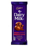 Dairy Milk Fruit & Nut Chocolate Bar Full Size 100g CADBURY Canada- FRESH - $3.95