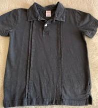 Gymboree Boys Gray Collared Polo Short Sleeve Shirt 7 - $6.43