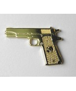 COLT 45 REVOLVER 1911 PISTOL GUN GOLD COLOR LAPEL PIN BADGE APPROX 1 INCH - $4.46