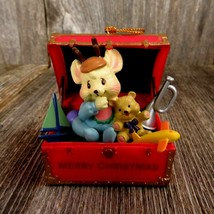 Vintage Baby Mouse in Toy Box Christmas Ornament First Christmas Boy Che... - $29.99
