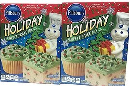 Pillsbury Funfetti Holiday Cake Mix With Candy Bits, 15.25 Ounce (Pack of 2) - $16.82