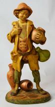 Vintage Capodimonte Style Italian Plastic Hand Painted Statue Wine Drunk... - $123.49