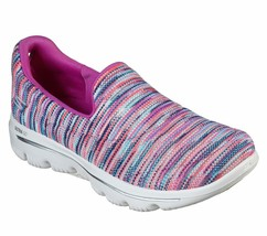 Skechers Shoes Purple Pink Go Walk Evolution Women's Sporty Casual Slip On 15759 image 1