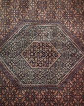 10 x 13 Brick Red Black New Indian Bijar Red Jaipur Wool Handmade Rug image 10