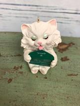 Hallmark Christmas Ornament To A Special Friend Kitten Cat 1990 - $6.93