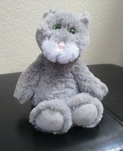 Ty Attic Treasures Kit The Gray & White Cat Green Sparkle Eyes NO TAG - $9.89