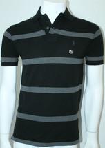 Polo Ralph Lauren Classic-Fit Striped Mesh Polo Shirt Black/Gray Size XS... - $58.05
