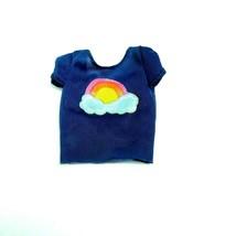Barbie Vintage Clothing  Rainbow blue tee shirt 1980-90's - $9.89