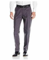 Lee Men's Total Freedom Relaxed Fit Flat Front Pant - 36W x 34L - Charcoal Gray - $22.43