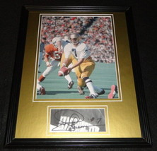 Joe Theismann Signed Framed 11x14 Photo Display Notre Dame Fighting Irish - $60.41