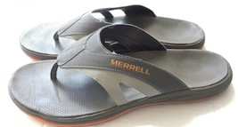 MERRELL Gray Orange Cedrus Sport Thong Slip-On Flip Flop Size 14M  - $16.49