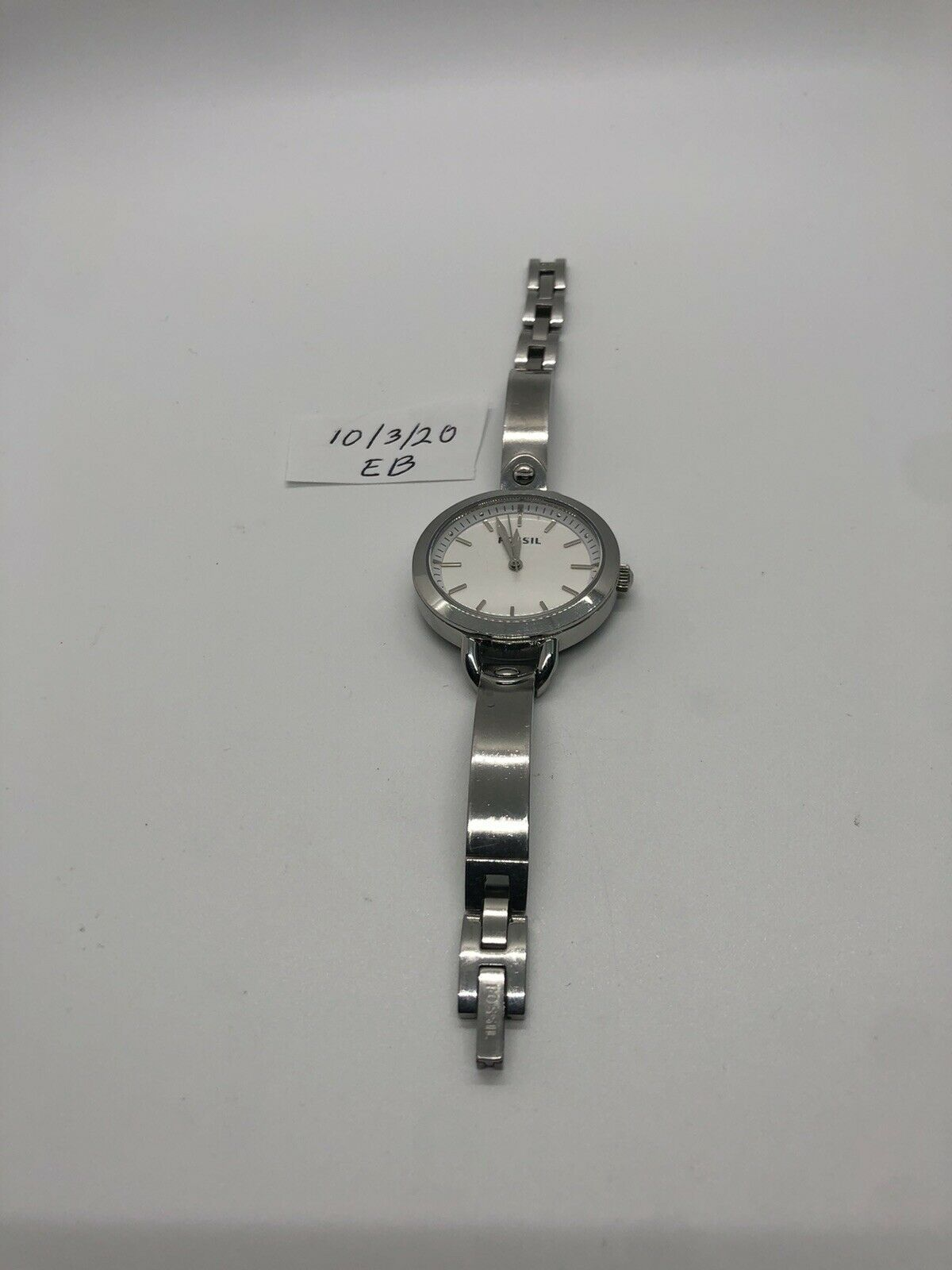 Primary image for Vintage Ladies Silvertone Fossil Watch