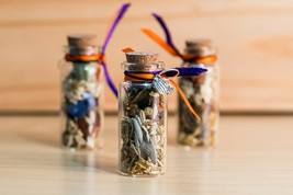 Samhain/Halloween Offering Vial, Herbs, Flowers and Fruits, Wicca, Yorks... - $6.30