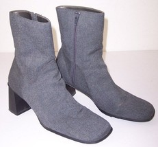 Pre-Owned Liz Claiborne Villager Women's Gray Zippered Ankle Boots, 9M - $14.99