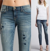 Current/Elliott The Ankle Skinny Jeans, Pixie with Repair Wash MSRP $258.00 - $64.99